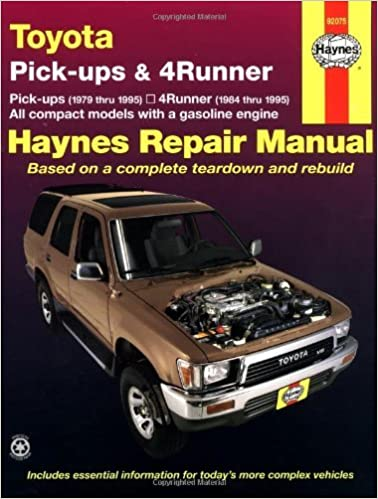 Toyota Pick-ups and 4-runner Automotive Repair Manual (Haynes Automotive Repair Manuals) by John B. Raffa (1-Sep-1988)