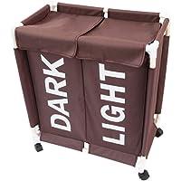ZYDJ Doble Compartimento Cesto para La Colada Almacenamiento