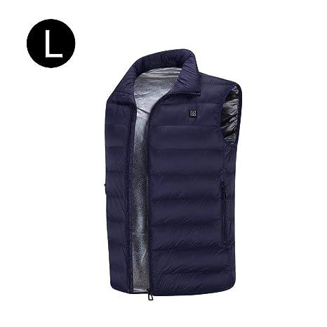 chaleco calefactable para hombres recargable, lavable, carga por usb, chaqueta térmica, ropa