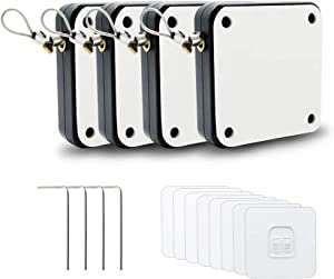 Punch-Free Automatic Sensor Door Closer, Multifunctional Automatic Door Closer, Residential Commercial Auto Door Closer with Drawstring, Closer Door for Internal, Home, Storm (4 Pack)