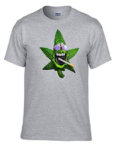 Cannabis, MARIHUANA, Hanf Smokin Jahman Tee cooles Grau Fun T-Shirt -133 -Grau