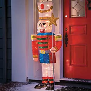 """60"""" 3D flat back lighted Nutcracker/Toy Soldier   New ...   Lighted Nutcracker Soldier"""