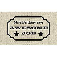 Homework Stamp, Personalised gift for teacher -Awesome job stamp- Teacher Appreciation, Custom teacher stamp - 6P