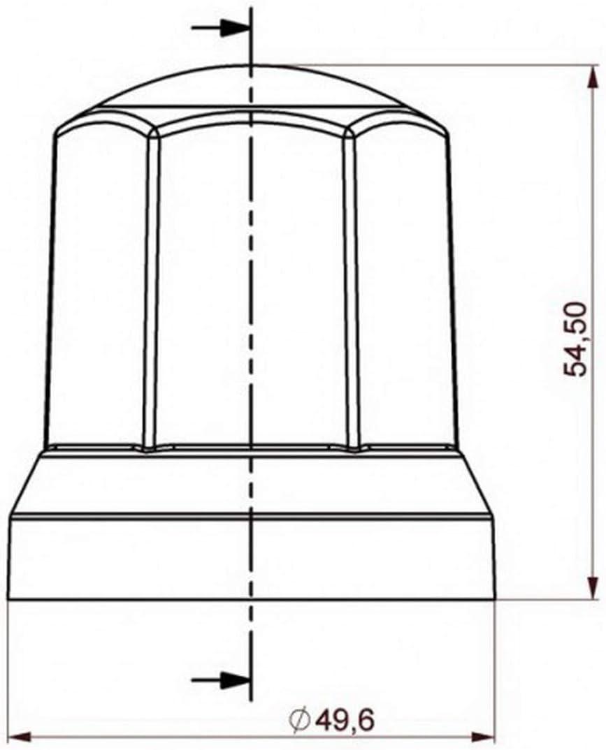 Sertplas 80 STK x 32 mm Chrom Radkappen Kunststoff Radmutterkappen LKW Truck Anh/änger Zubeh/ör