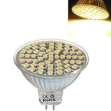 TOOGOO(R)MR16 GU5,3 60 LED 3528 SMD 3W SPOT LIGHT BULB warm white 12V