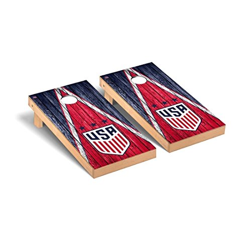 Victory Tailgate US Women's Soccer Desktop Cornhole Game Set Weathered Triangle Version by Victory Tailgate