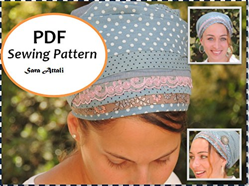 Sara Attali Design PATTERN EMAIL DIGITAL DOWNLOAD Sewing Head Covering Pattern PDF Pattern How To Sew Sinar Apron Tichel