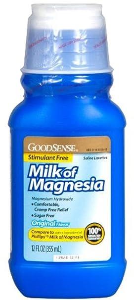 Amazon.com: Good Sense Milk of Magnesia Saline Laxative, Original 12 oz (Pack of 3): Health & Personal Care