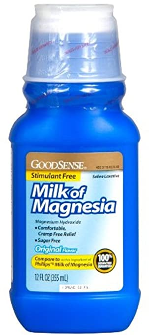 Good Sense Milk of Magnesia Saline Laxative, Original 12 oz (Pack of 6)