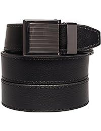 SlideBelts Square Buckles Leather Ratchet Belt - Custom Fit