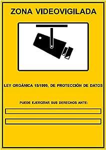 Cartel de cámaras de seguridad CCTV LOPD: Amazon.es
