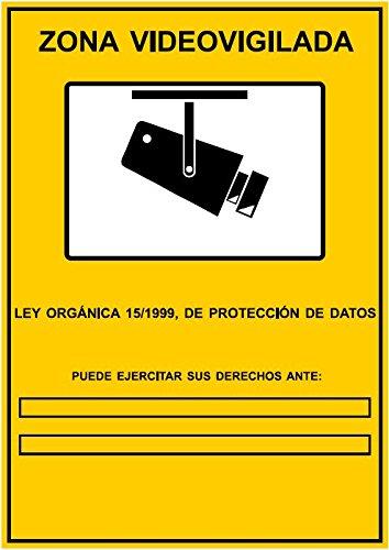 Cartel para cámara de seguridad