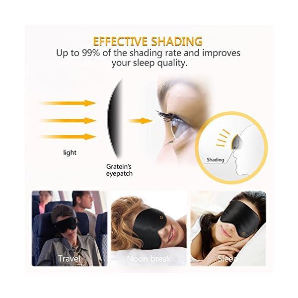 Sleep Mask,Eye Mask,Gritin Ultra Soft Skin-Friendly Pure Natural Silk Fabric and