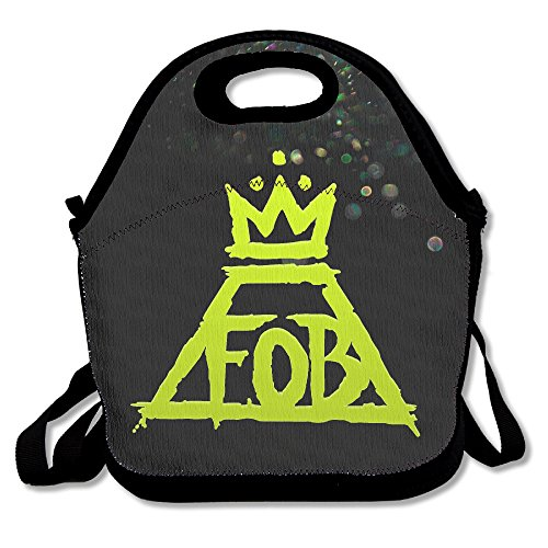 Bakeiy FOB American Rock Band Lunch Tote Bag Lunch Box Neoprene Tote For Kids And Adults For Travel And Picnic (Rock Band Hit Kit)