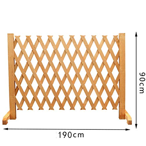 JIANFEI-weilan Garden Fence Screen Flower Bed Edge Home Decoration Plant Climbing Frame Waterproof Corrosion Resistant, 5 Sizes (Color : Brass, Size : 190x90cm)
