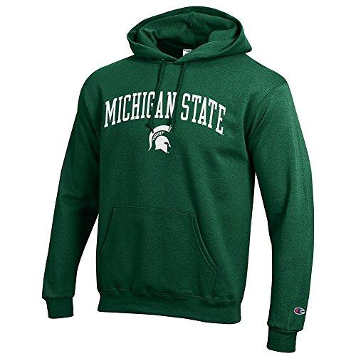 Elite Fan Shop NCAA Michigan State Spartans Men's Team Color Hoodie Sweatshirt, Forest Green, - Plush Michigan State Spartans