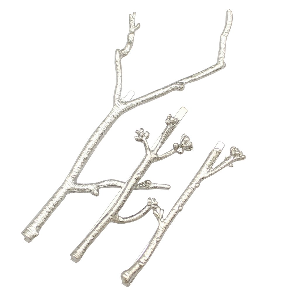 Q&Q Fashion CHIC Runway 3Pcs Tree Branch Hair Pin Head Dress Snap Barrette Clip Fascinator 81525