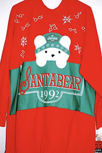1992 - Dayton Hudson / Marshall Field's - SantaBear And His Polar Club - SantaBear Ladies Nightshirt - One Size Fits S,M,L - OOP - Very Rare - Collectible