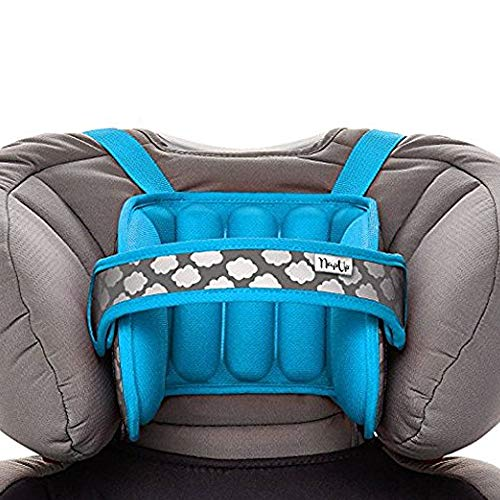NapUp Child Head Support for Car Seat and Booster (Light Blue)
