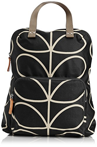 Orla Kiely Core Linear Tote Back pack, Black/Cream, One Size by Orla Kiely