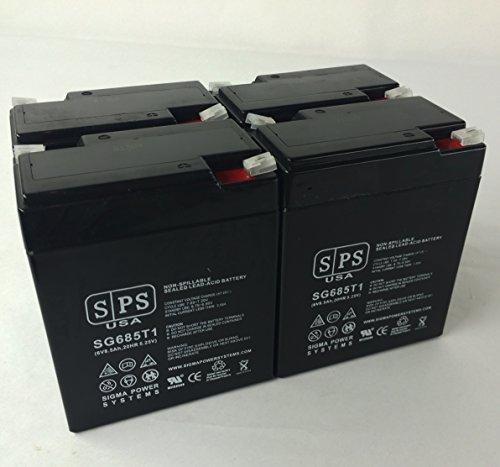 Siemens Gamma Camera LEM SLA Battery 6V 8.5Ah SPS Brand (4 Pack)
