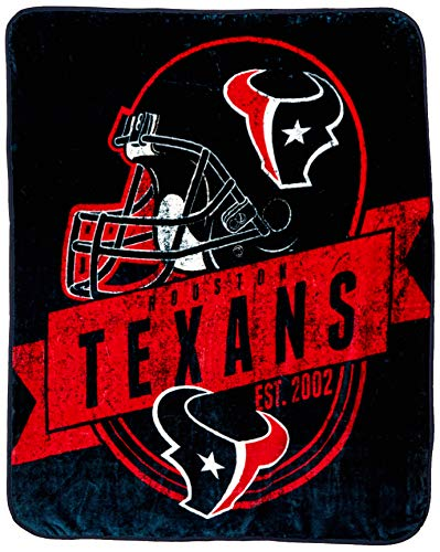 (The Northwest Company Officially Licensed NFL Houston Texans Grand Stand Plush Raschel Throw Blanket, 50