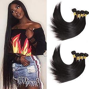 NEWNESS Grade 10A Malaysian Hair Straight 6 Bundles 30 32 34 36 38 40Inch Virgin Human Hair Long Weave Extensions…