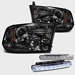 2009 2012 dodge ram 1500 dual halo headlights. Black Bedroom Furniture Sets. Home Design Ideas