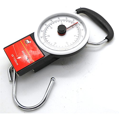 Simply Silver - Tape Measure - Dial Luggage Scale w/ 39'' Tape Measure Portable Hanging Hook Scale 80lbs/35kgs by Simply Silver