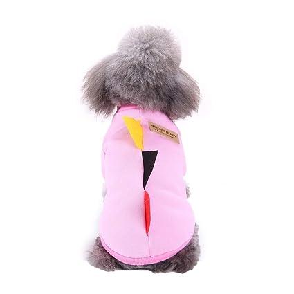Fossrn Invierno Mascotas Perro Gato Sudaderas Abrigo Cachorro Ropa Perro Pequeño Yorkshire Toy Chihuahua Mini