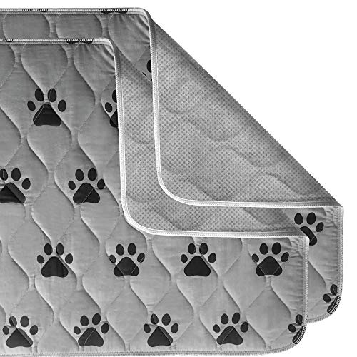 Gorilla Grip Original Reusable Pad and Bed Mat for Dogs, 34×21 inches, Absorbs 3 Cups, Oeko Tex Certified, Washable, Waterproof, Dog Crate Training, Furniture Protection Pads, Fits 34-inch Crates