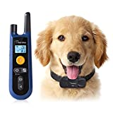 [Upgraded] Dog Training Collar, Rechargeable and All Weather Resistant, All Size Dogs, Long Lasting Battery Life, 1000ft Range Remote with Beep, Vibration and Shock Electronic Collar