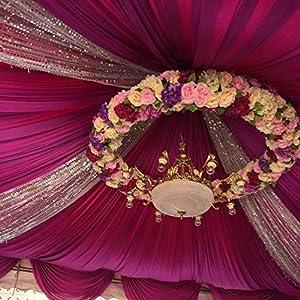 10PCS/Lot 10CM Golden Artificial Roses Silk Flower Heads DIY Wedding Home Decoration Festive Accessories Party Supplies 20colors,Green,Diameter 10cm 4