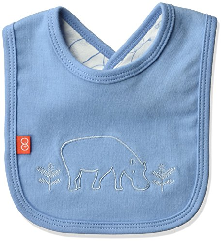 Blu Infant Bib - Magnificent Baby Baby Infant Reversible Bib, Savannah Blue, O/S