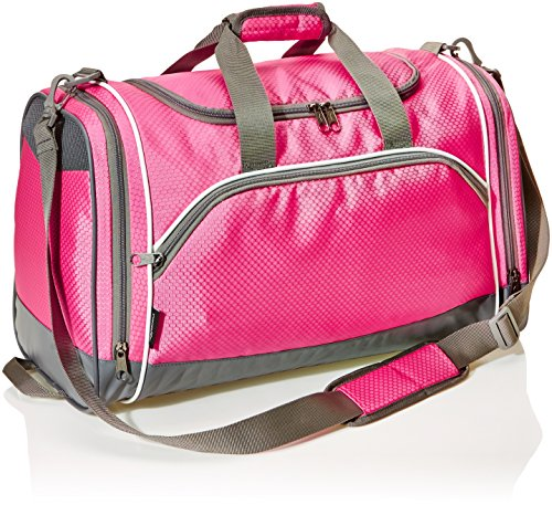 (AmazonBasics Medium Sports Duffel Gym Bag - Pink)