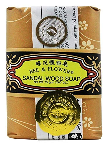 Skin Wood Flower - Bee and Flower Original Sandal Wood Soap, 2.68 ounces x 12 Bars