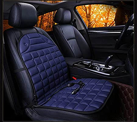 HONCENMAX Car Heated Seat Cover Cushion 12V Heating Warmer Pad Hot Cover Perfect for Cold Weather and Winter Driving with 3-Way Temperature Controller Black