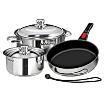 Magma Nesting 7 Piece S.S. Slate Black Induction Cookware (Part #A10-363-2-Ind By Magma)