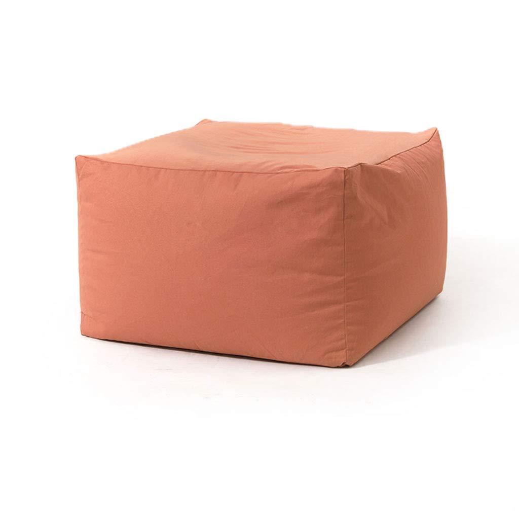 Obtén lo ultimo WXL Sofá Sofá Sofá Lazy Stool Fabric Balcony Dormitorio Lazy Chair Bean Bag Tatami V (Color : Coral Pink, Tamaño : L65CMXW65CMXH43CM)  tienda en linea