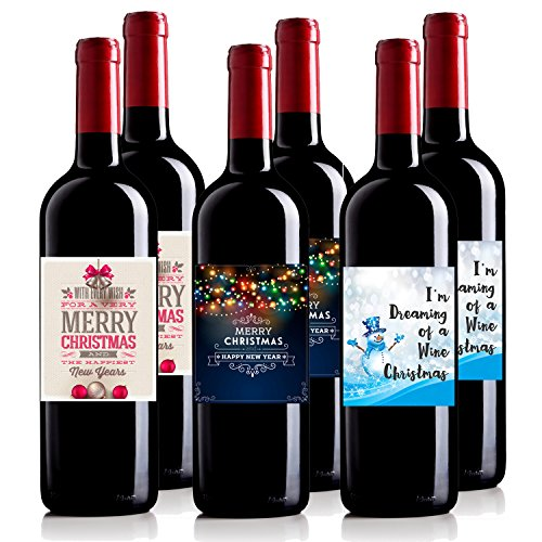 Personalized Wine Bottle Labels For Christmas Gift Holiday Gift Secret Santa Wine Mixed Pack 6 750 mL