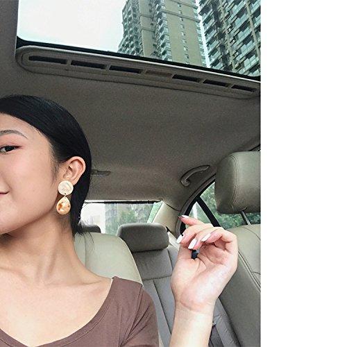 (Bistro) retro tortoiseshell earrings amber grain pendant drop earrings personality -