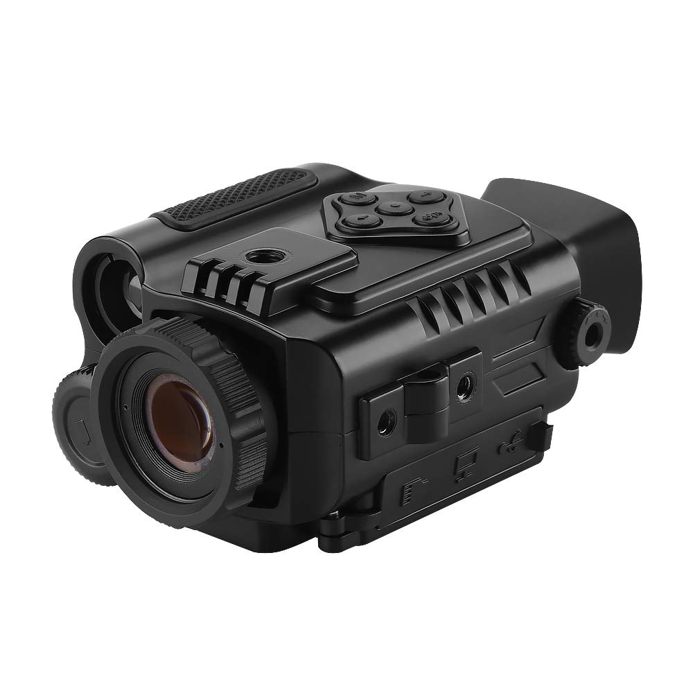 BOBLOV P4 Night Vision Monocular 5X Digital Zoom Infrared Portable Night Vision Scope 200Yards Visible for Hunting Forest Observe Wildlife Secenery (Black) by BOBLOV