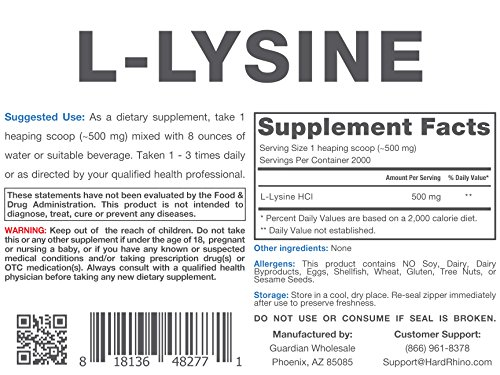 Hard Rhino L Lysine Powder