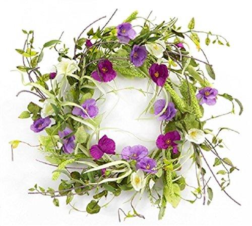 Melrose International Wild Flower Grass Wreath, 20-Inch