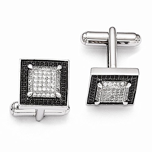 925 Sterling Silver Cubic Zirconia Cz Cuff Links Mens Cufflinks Man Link Fine Jewelry Gift For Dad Mens For Him