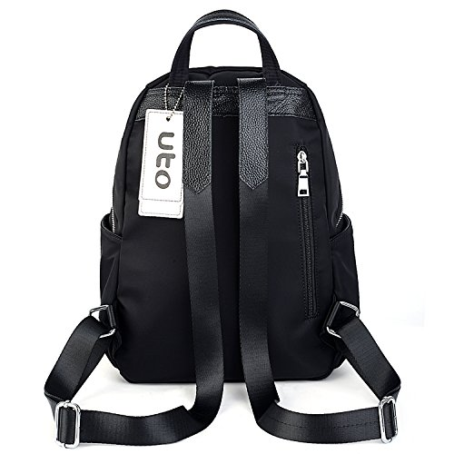 Real Purse UTO Daily Strap Leather Clipping Shoulder Nylon Rucksack Fashion Backpack Waterproof FnPwrYPz