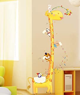 Kinderzimmer wandgestaltung giraffe  Stickerkoenig XXL Wandtattoo Kinder Meßlatte Wandsticker ...