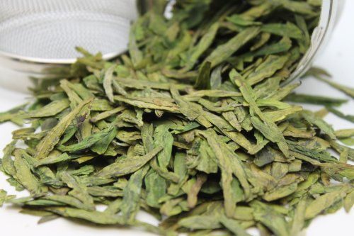 Tealyra - Premium Dragon Well - Long Jing - Green Tea - Loose Leaf Tea - First Grade - Organic - 4-Ounce