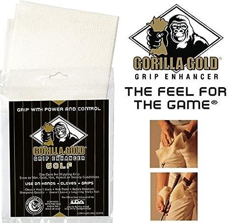 Gorilla Gold - Toalla para grip de golf para potenciar al agarre en climas húmeros y mojados