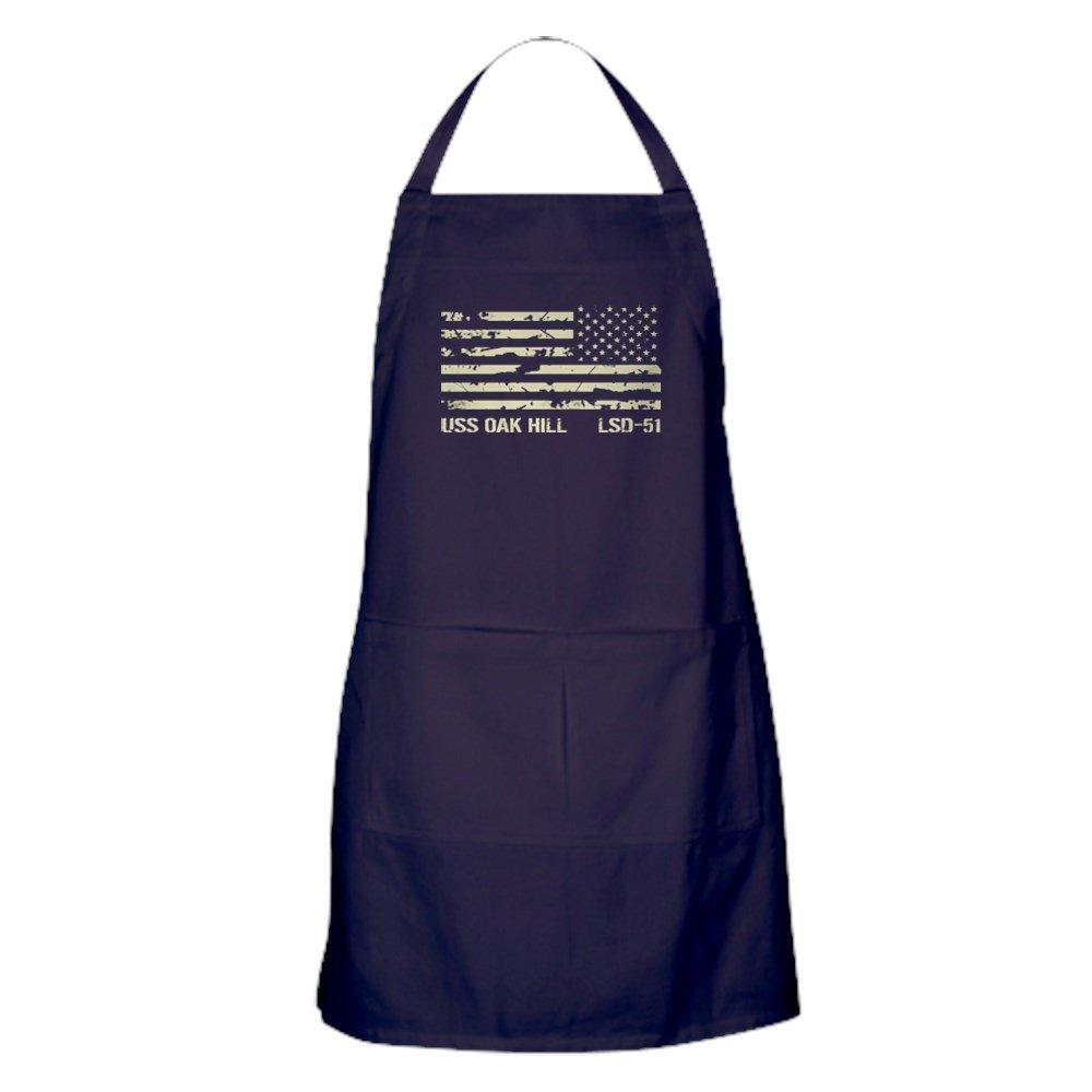 CafePress USSオークヒル キッチンエプロン ポケット付き グリルエプロン ベーキングエプロン   B077W8KP12